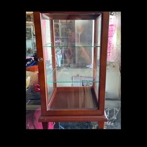 COPY - Gorgeous Wood Tabletop Curio Cabinet